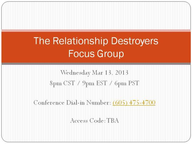 FOCUS GROUPS CONFERENCE CALL