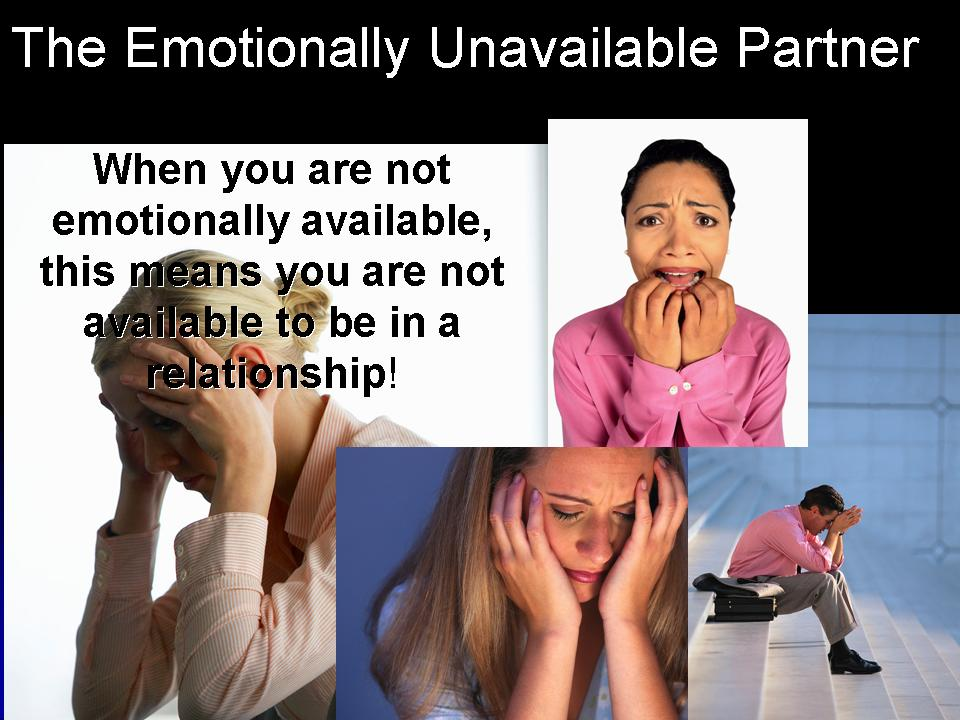 What is emotionally unavailable mean