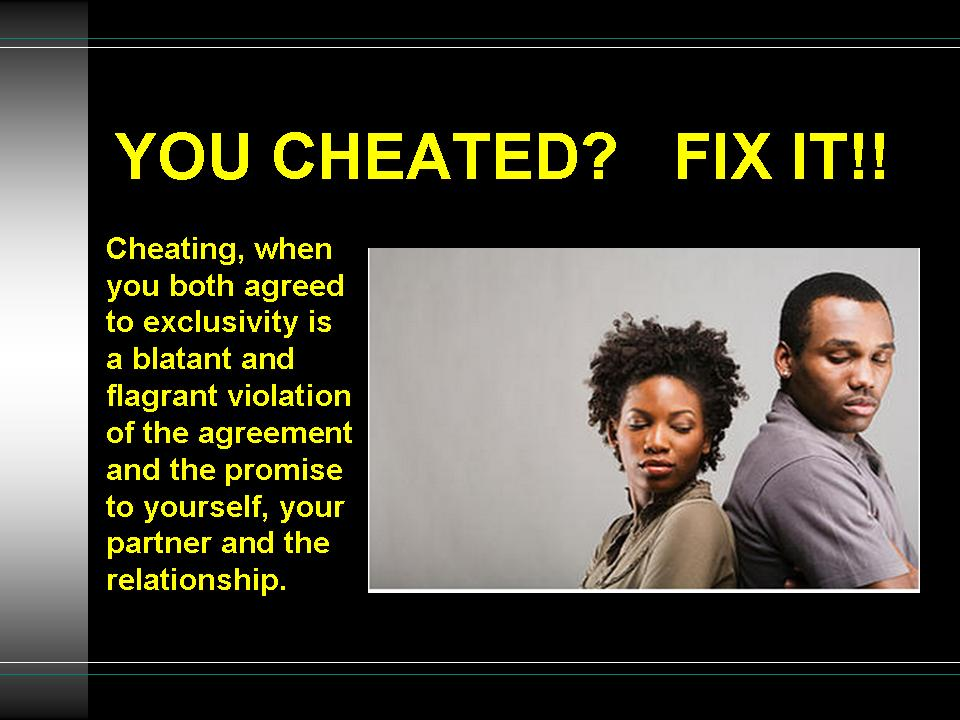 how to fix cheating